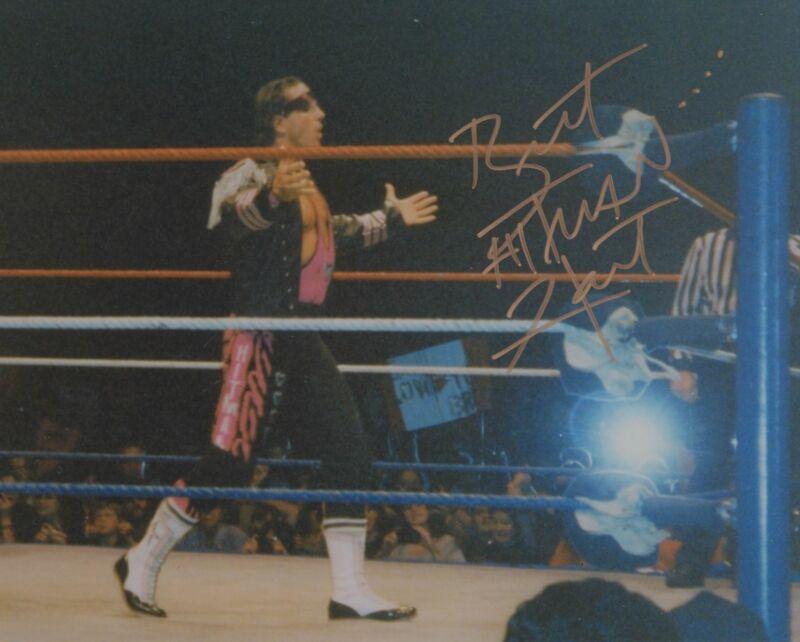 BRET THE HITMAN HART SIGNED WWE WWF 8X10 PHOTO 16