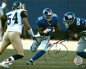 Tiki-Barber-Signed-New-York-Giants-8x10-Photo-COA-UVA-Virginia-NFL-RB
