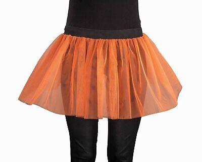 Tüllrock, Tutu, Farbe orange - leuchtet im Schwarzlicht