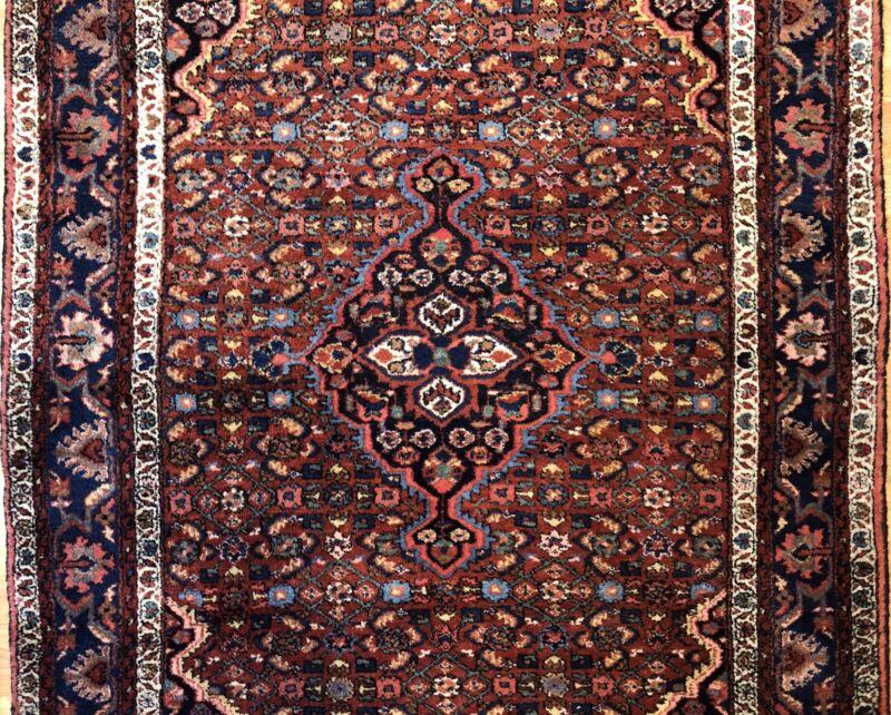 Tremendous Tribal - 1940s Antique Oriental Rug - Nomadic Carpet - 5 X 6.9 Ft.