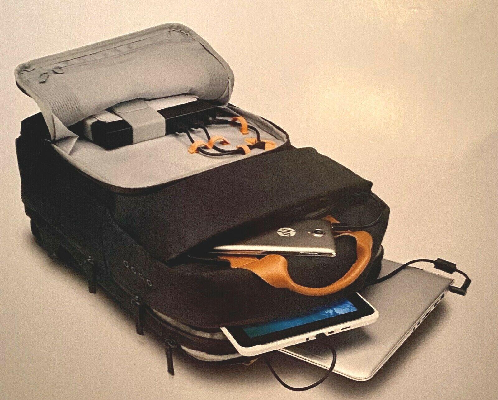 Hp - Laptop Backpack - Brown/gray