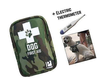 Premium Dog First Aid Kit - Pet Safety Supplies for Camping, Walks, Cycling, ...