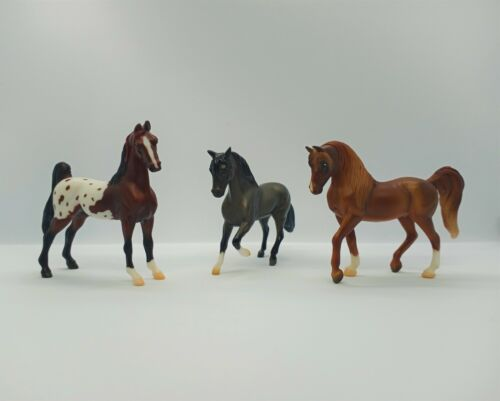 Breyer Stablemates 1:32 LOT OF 3: American Saddlebred, Paso Fino & Arabian *USED