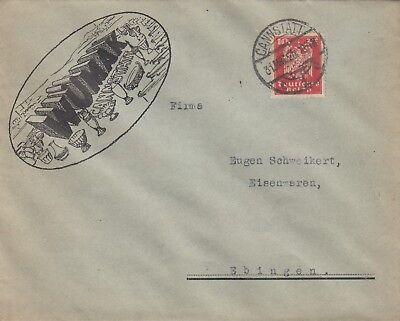 CANNSTATT, Briefumschlag 1925, WÜMAK