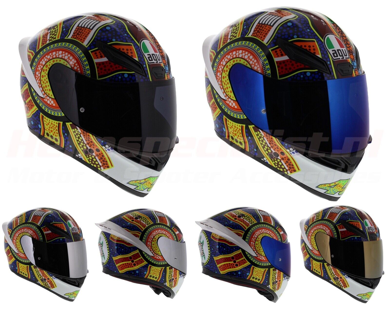 Agv K1 Dreamtime Valentino Rossi Motorcycle Helmet Fast N Free Shipping New Ebay