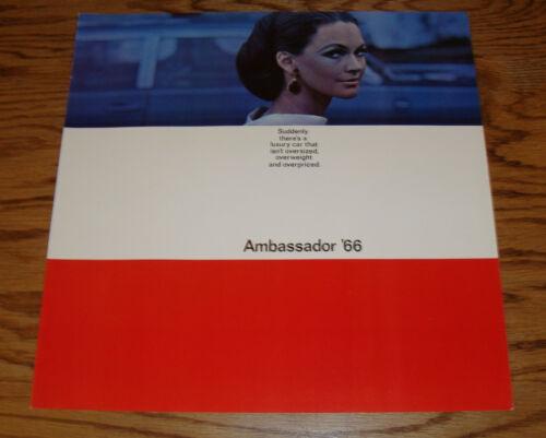 Original 1966 Rambler Ambassador Deluxe Sales Brochure 66 AMC American Motors