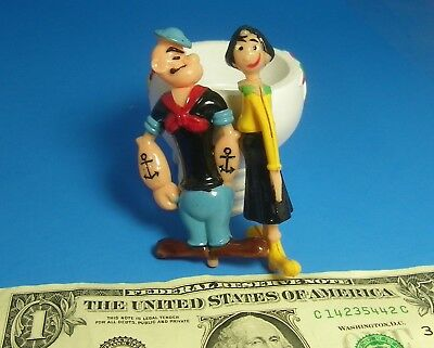 Popeye Party Supplies (Vintage Cake Topper Cupcake Topper  Plastic POPEYE & OLIVE OYL Hand Painted)