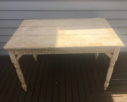Solid wood antique table & chairs
