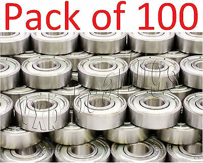 100 Skateboard Ball Bearings 608zz Skateboardinline Wholesale Lots 8mm 22mm Od