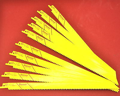 10 Nos Starrett Usa Made 12 6tpi Bi-metal Reciprocating Saw Blades Wr15ad1