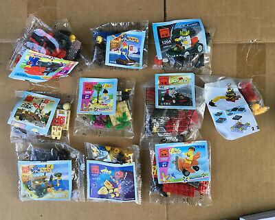 LOT of 10 Enlighten Brick Block Miniature Toy Sets mini train plane car lego