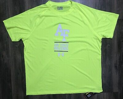 NWT Under Armour Air Force Falcons Loose Fit Heat Gear Men's Size 2XL Neon Green Air Force Falcons Gear
