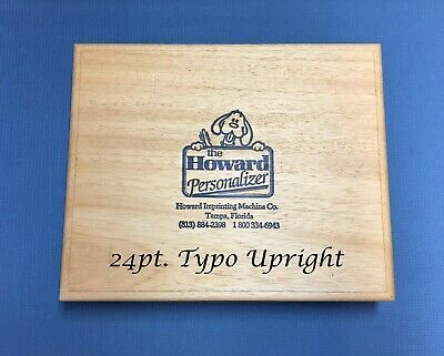 Howard Personalizer Type 24pt. Typo Upright Hot Foil Stamping Machine