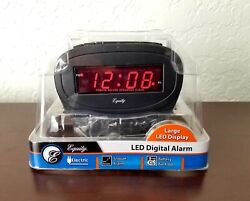 Equity LED Alarm Clock Snooze Battery Backup Electric Digital Display *NEW*