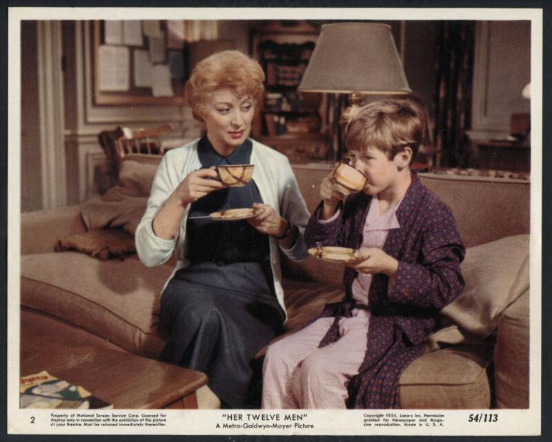 GREER GARSON STUFFY SINGER CHILDSTAR DRINKING COFFEE Her Twelve Men '54