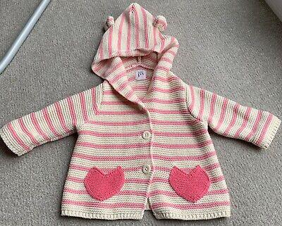 Baby Gap Brannan Bear Striped Cotton Knitted Hooded Sweater (0-3 months), usado comprar usado  Enviando para Brazil