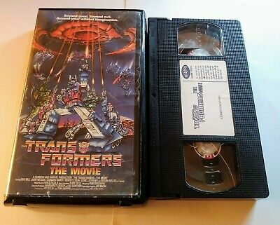 VHS The Transformers The Movie Hard Box
