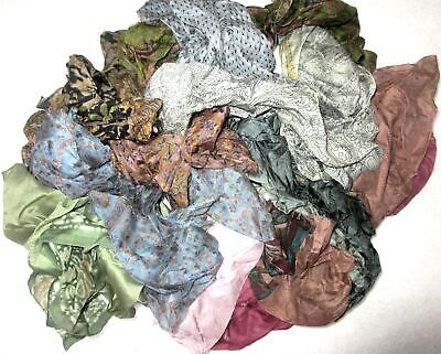 TD LOT PURE SILK Vintage Sari REMNANT Fabrics 200 GRAMS LIGHT DULL COLOR JOURNAL