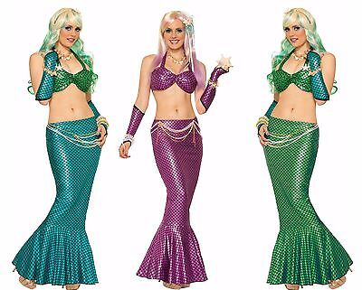 Womens Mermaid Tail Fancy Dress Skirt Costume Elastic Pencil Style Sexy Adult - Adult Mermaid Skirt
