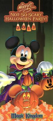 Mickey Not So Scary Halloween Magic Kingdom (2013 Mickey's Not So Scary Halloween Party Magic Kingdom Fold Out Guide Map)