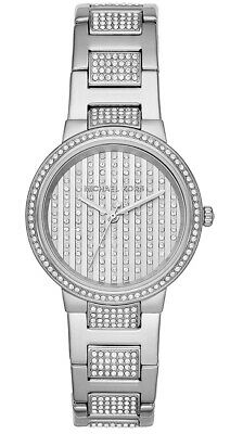 Michael Kors Gabbi Glitz Crystals Pave 36mm Silver Steel Women's Watch MK3984