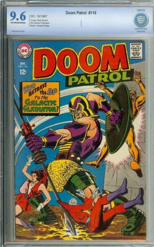 DOOM PATROL #116 CBCS 9.6 OW/WH PAGES