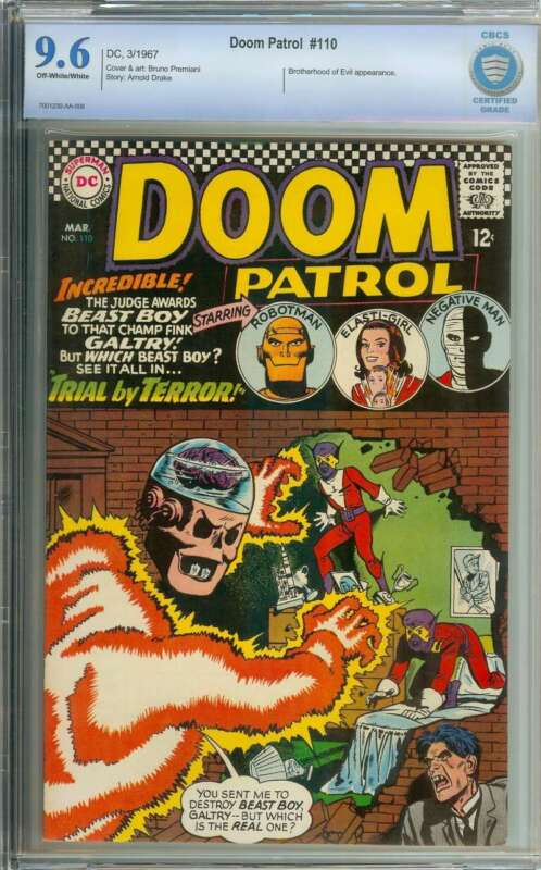 DOOM PATROL #110 CBCS 9.6 OW/WH PAGES