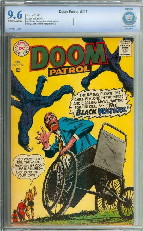 DOOM PATROL #117 CBCS 9.6 OW/WH PAGES