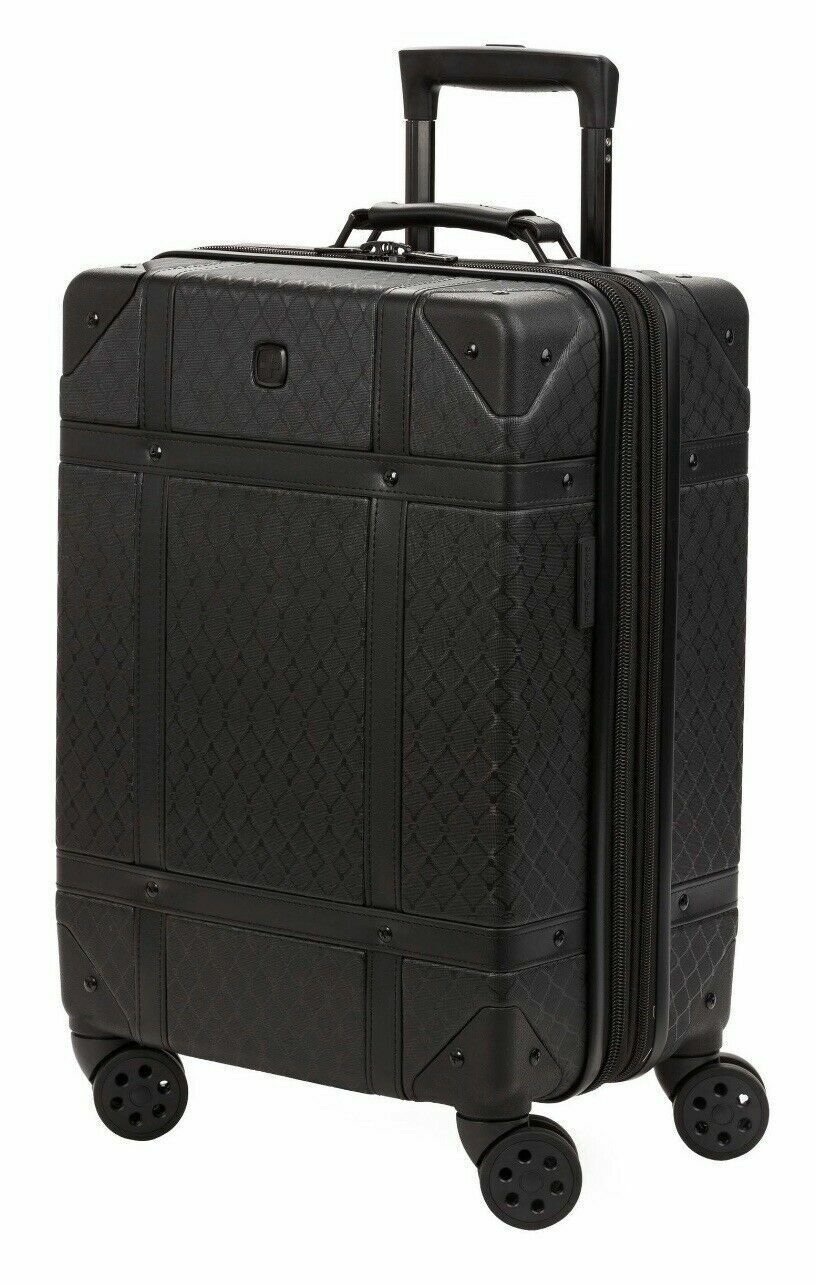 19 black trunk expandable carry on spinner