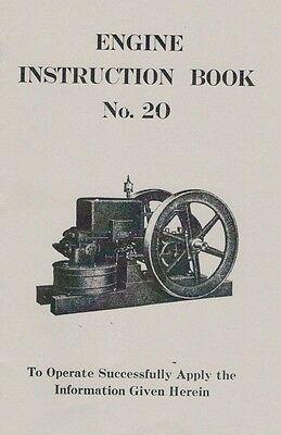 Gas Engine Motor Instruction Book Manual No.20 HIt & Miss Flywheel