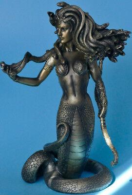 bronziert,bogen,medusa,21x11cm,mythos,griechische mythologie,schlangen,snake