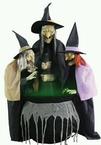 Life size animated witch ebay for 3 witches halloween decoration