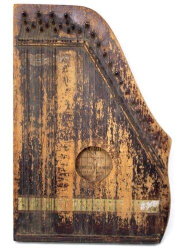 ANTIQUE Oscar Schmidt Menzenhauer Guitar Zither Harp 1894 Collectible Historical