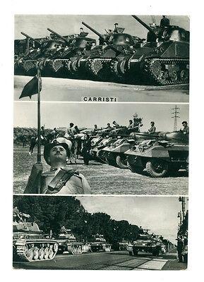 CARRISTI ANNI '50 VIAGGIATA CARRI ARMATI MEZZI MILITARI CINGOLATI