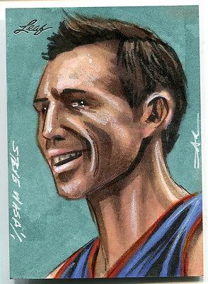 Steve Nash Leaf Sketch 1/1 Jim Kyle 2014 Best of Basketball Insert Artist