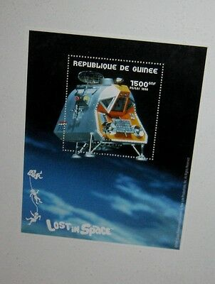 """LOST in SPACE """"SPACE POD"""" COLLECTIBLE POSTAGE STAMP w/ COA ** MINT & FRAMED!!**"""