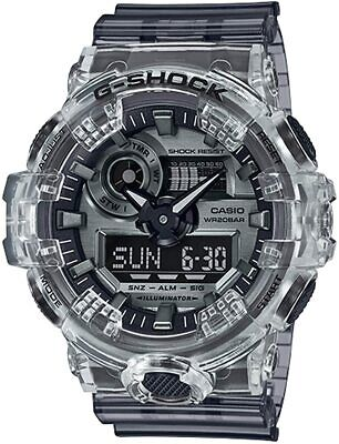 Casio G-Shock GA-700SK-1A Analog-Digital Skeleton Semi-Transparent Resin Watch