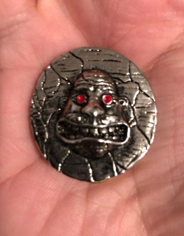 VTG Anthrax Pin Badge Poker Metal OG 1990 Thrash Metallica Megadeth Slayer Venom