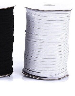 """10 yards 1/4"""" Elastic For Face Mask white 1/4 inch elastic cord band for sewing"""