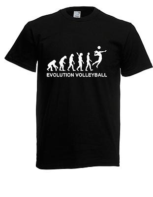 Herren T-Shirt Evolution Volleyball I Sprüche I Lustig I Fun I  bis 5XL