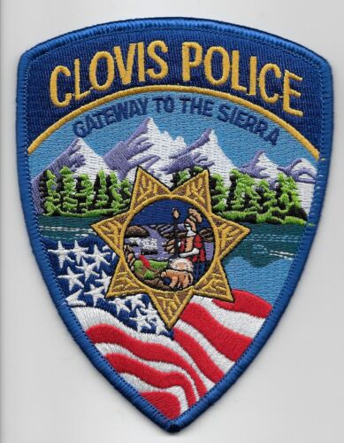 Colorful Clovis Police State California CA