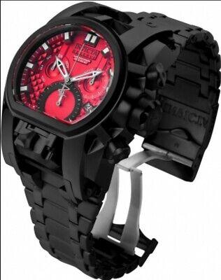 Invicta Reserve Bolt Zeus Magnum 2 Swiss Movements Black Watch Red Dial Vampire