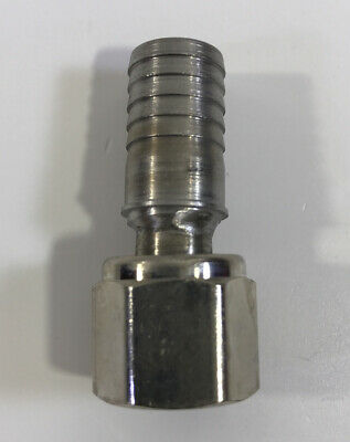 Stainless Steel 12 Hose Barb To 38 Female Npt Swivel Pipe Fitting Coupler