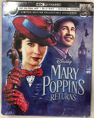 MARY POPPINS RETURNS (4K Ultra HD/Blu-ray/Steel Book Edition). No Digital Copies - Halloween 4 Script