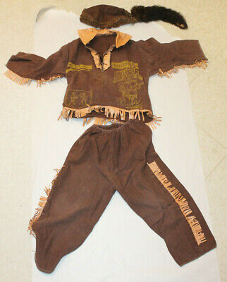 Baby Coon Skin Hat (VINTAGE DAVY CROCKETT  CHILD'S  OUTFIT Coonskin)