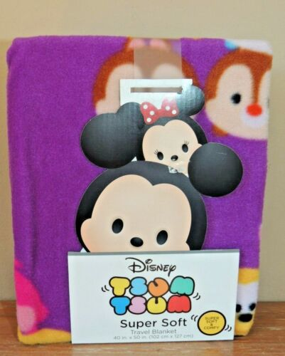 NEW DISNEY Tsum Tsum Super Soft Travel Blanket Baby Characters 40