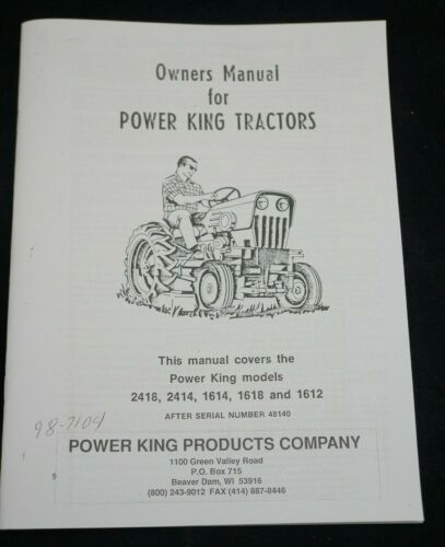 Economy Power King All Gear Drive Tractor Owner
