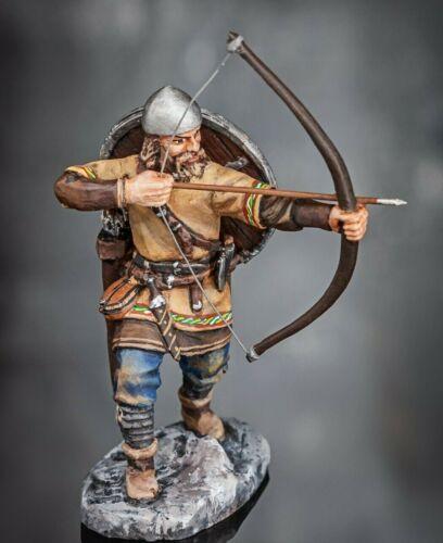 Viking Warrior 1/32 scale Painted Metal Figurine Tin Metal Toy Soldiers 54mm