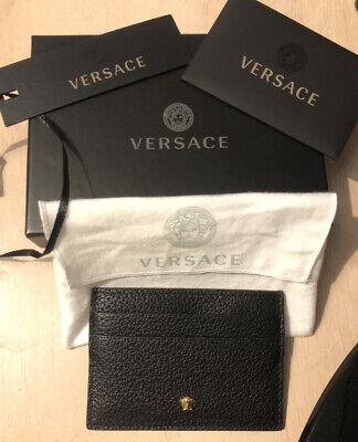 Sold Out Versace Black Leather Embossed Medusa Mens Cardholder Wallet RRP £128
