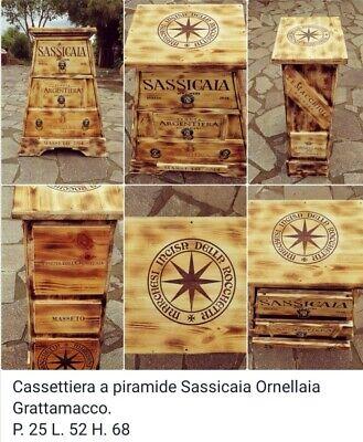 Cassettiera a piramide Sassicaia Ornellaia
